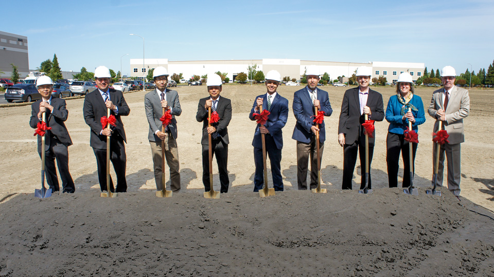 Shinmei broke ground in West Sacramento on June 16, 2014